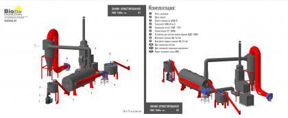 Линия брикетирования Пиникей 750-1000 кг. час